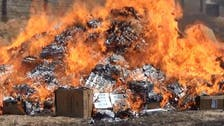 Up in smoke: ISIS in Iraq burn cigarettes, shisha tobacco