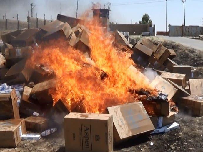داعش الموصل يعلنها: لا سجائر ولا معسل  8