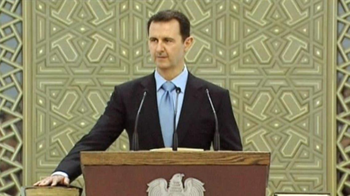 بشار الاسد يؤدي اليمين الدستورية