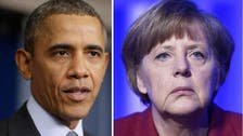 Amid spy scandal, Obama makes pledges to Merkel
