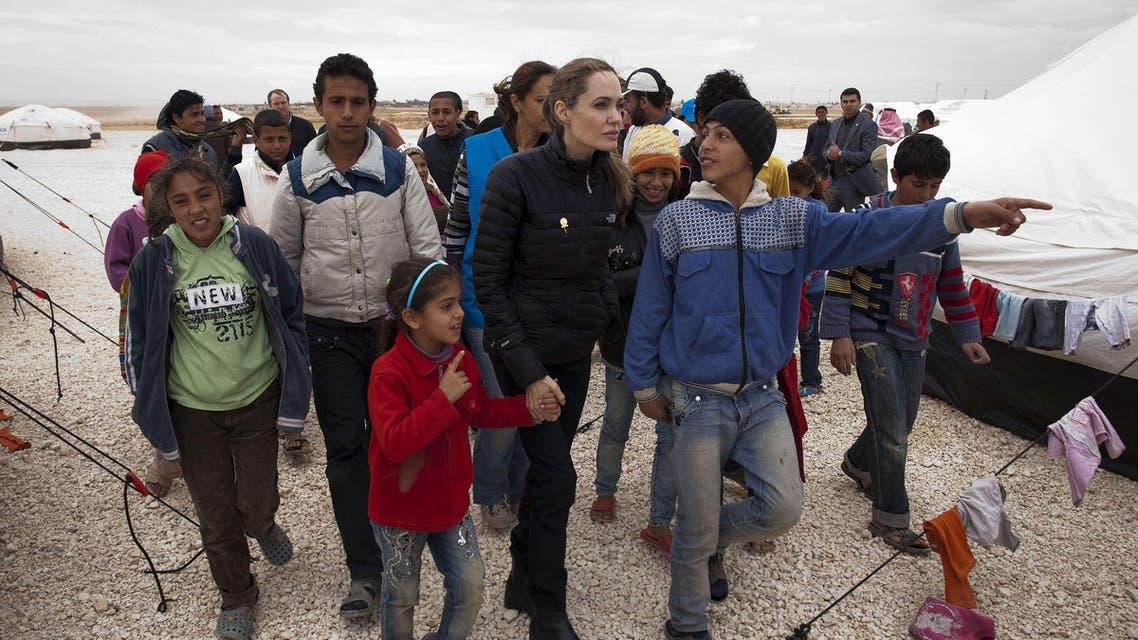 Angelina Jolie Syrian refugees AFP