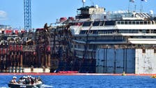 Engineers raise wrecked cruise ship Costa Concordia from sea