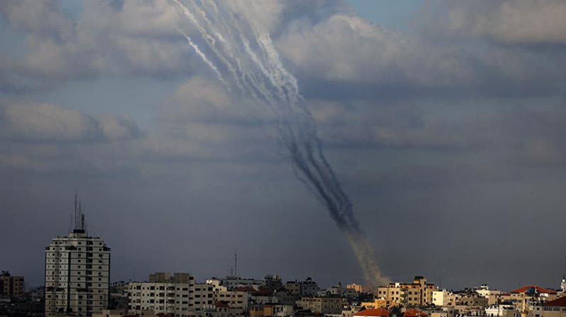 صلية صواريخ تنطلق من غزة بإتجاه مستوطنات اسرائيلية