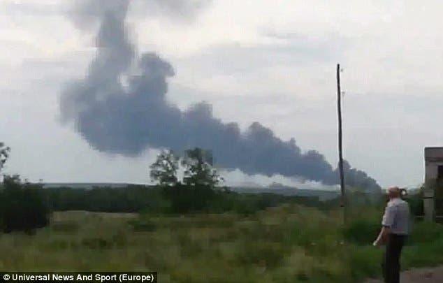 موقع سقوط الطائرة الماليزية في اوكرانيا