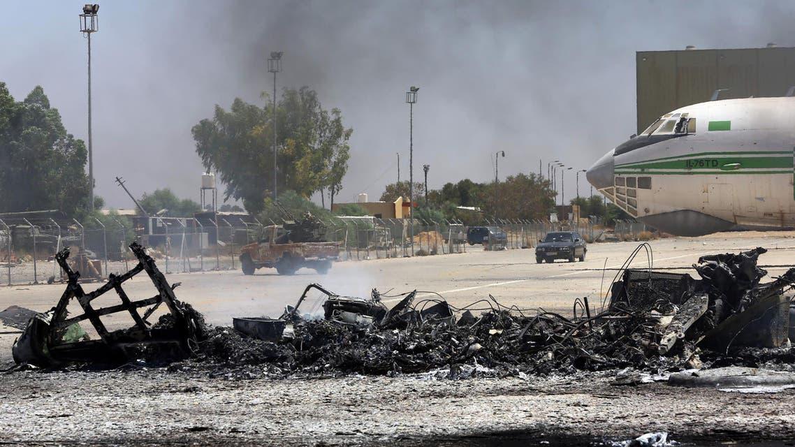 libya airport AFP