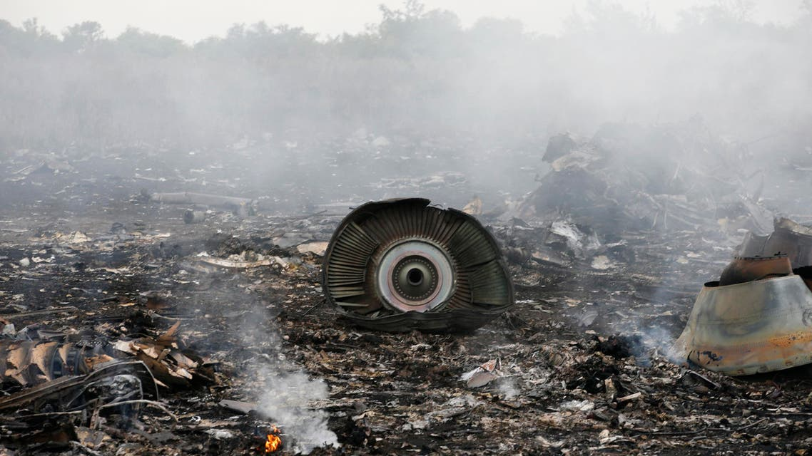 The site of a Malaysia Airlines Boeing 777 plane crash is seen near the settlement of Grabovo in the Donetsk region, July 17, 2014. (Reuters)