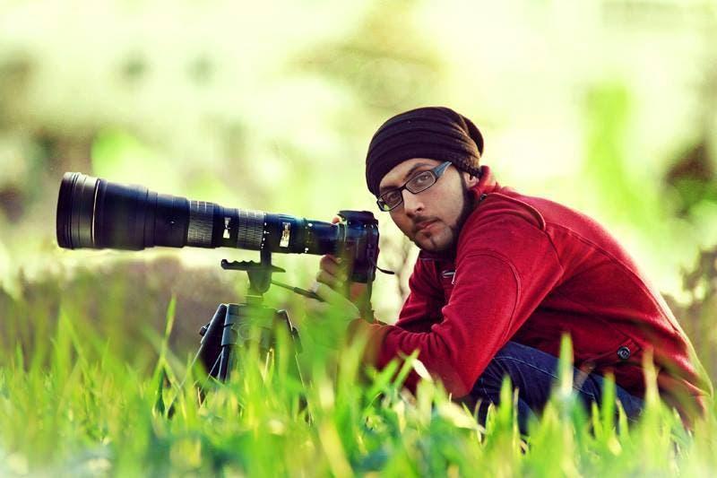 المصور الفلسطيني بلال خالد في قطاع غزة