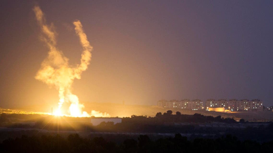 An Israeli rocket is fired into the northern Gaza Strip July 17, 2014. Reuters