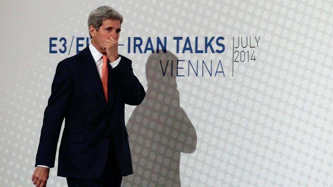 U.S. Secretary of State John Kerry arrives for a news conference in Vienna July 15, 2014. (Reuters)