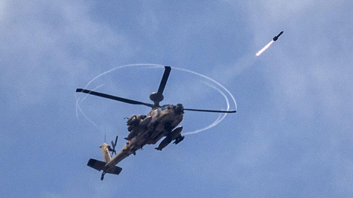 israeli helicopter Gaza Israel AFP