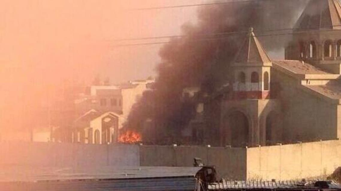 ISIS burn down church