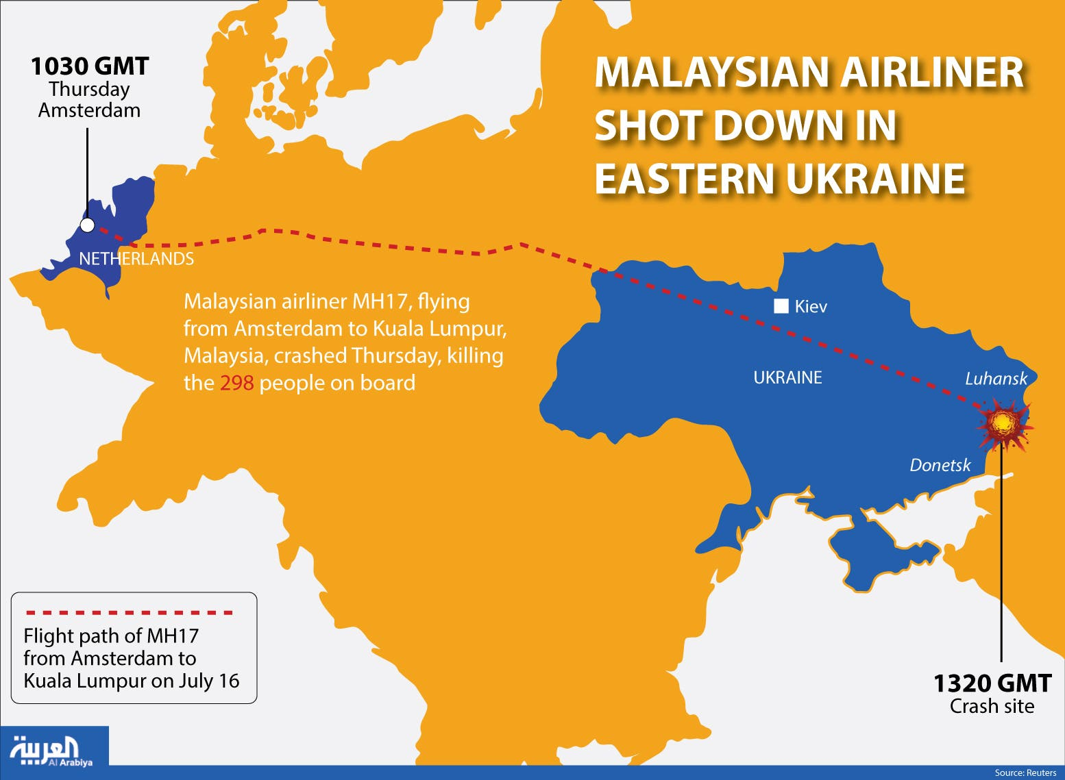 Infographic: Malaysian Airliner shot down in eastern Ukraine