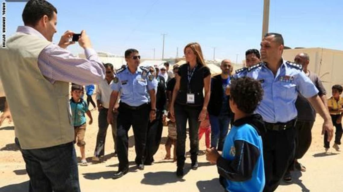 كارول سماحة تزور مخيم الزعتري