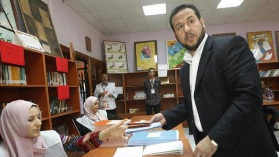 Abdel Hakim Belhadj, leader of Al-Watan party and former head of the Tripoli military council casts his vote at a polling station in Tripoli July 7, 2012. (Reuters)
