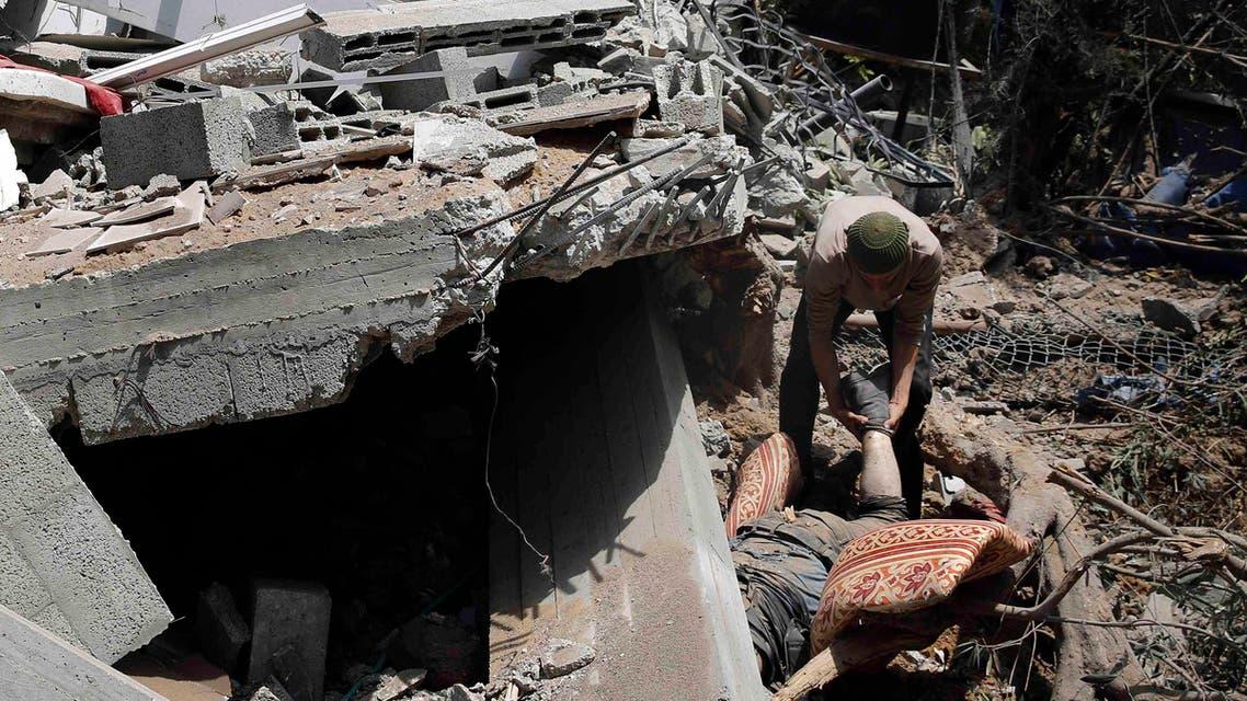 جانب من دمار حلب غزة