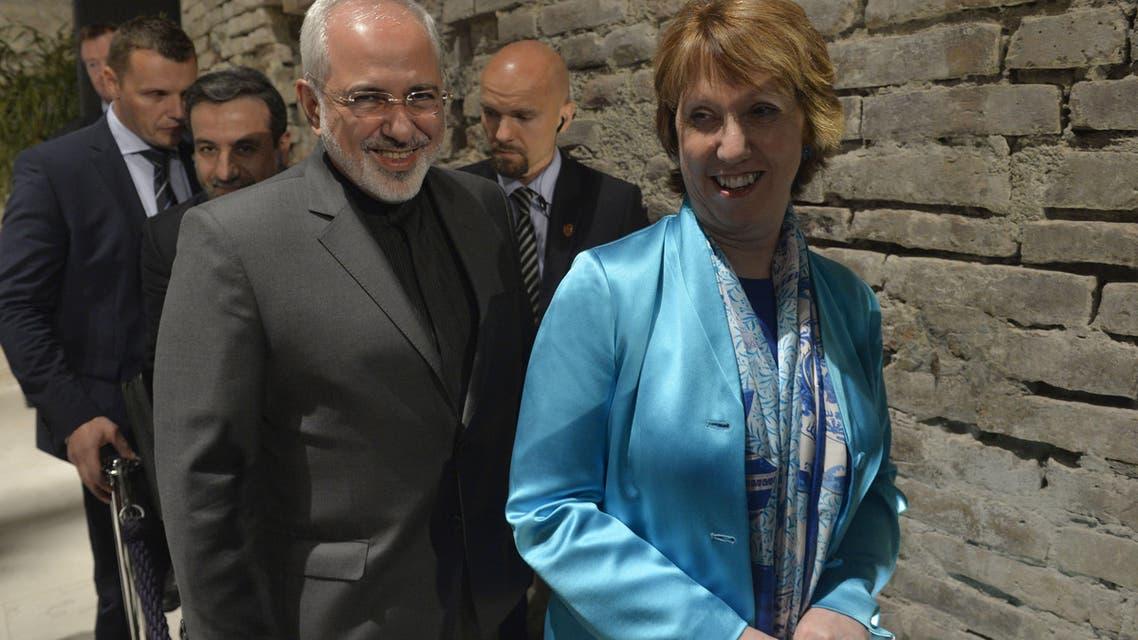 Catherine Ashton and Zarif AFP