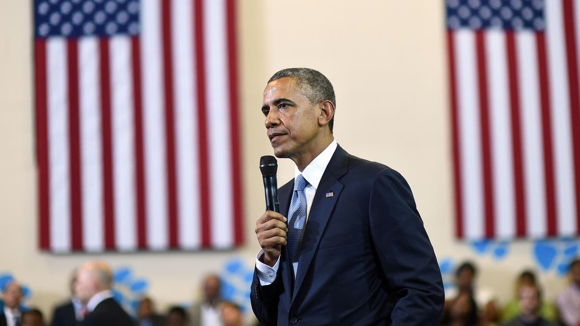 US President Barack Obama speaks during a town hall meeting focusing on the importance of the My Brother's Keeper Initiative at the Walker Jones Education Campus in Washington, DC, on July 21, 2014.  (Reuters)