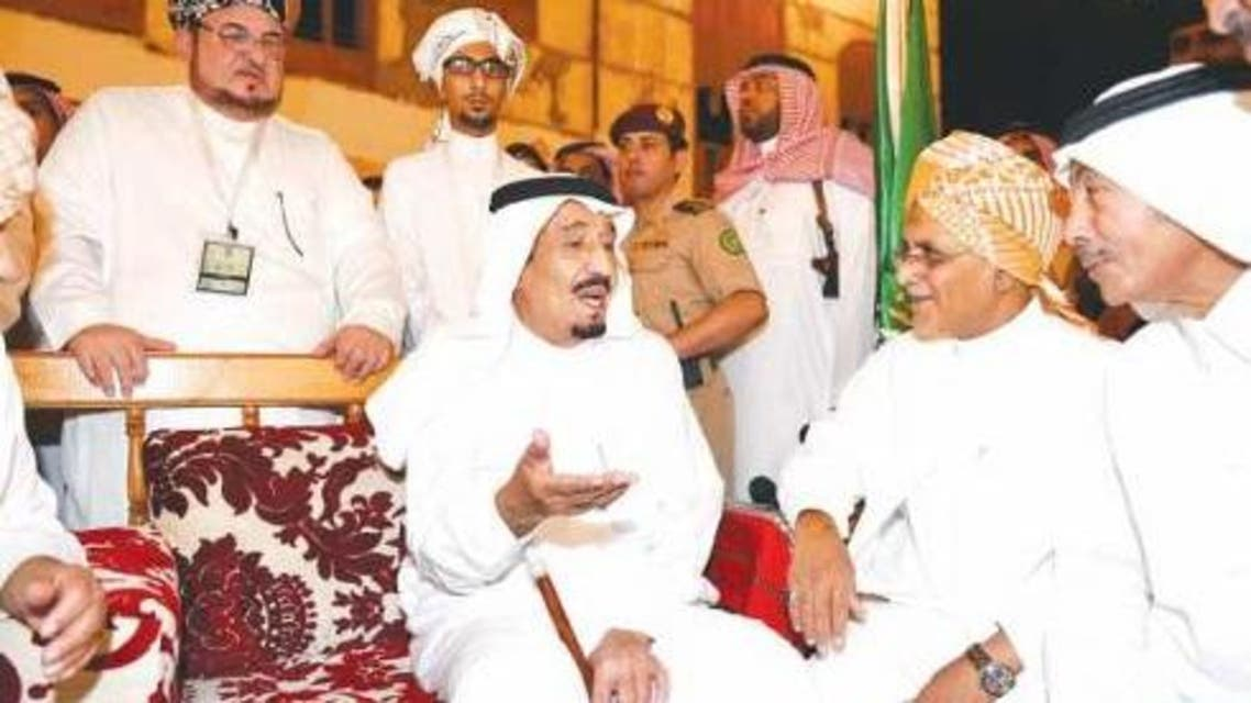 The Crown Prince met the area's mayors and citizens, mingled freely with the crowd, exchanged pleasantries with them and received a commemorative plaque.(Saudi Gazette)