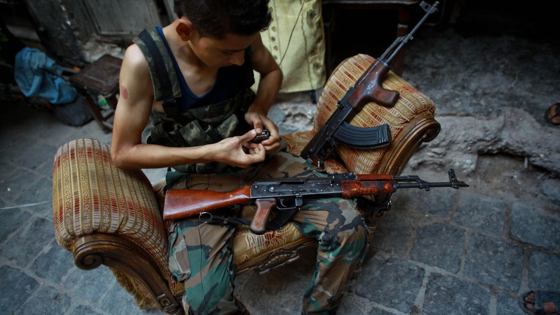 Islamic Front members Syria AFP