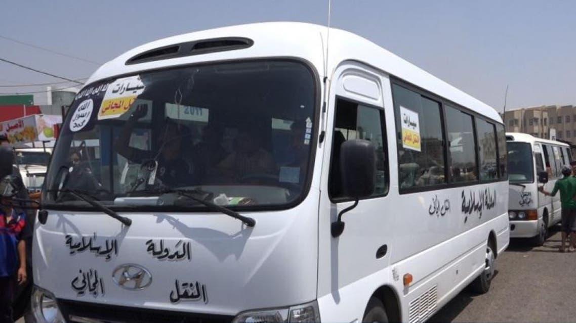 باص نقل مجاني يتبع تنظيم داعش