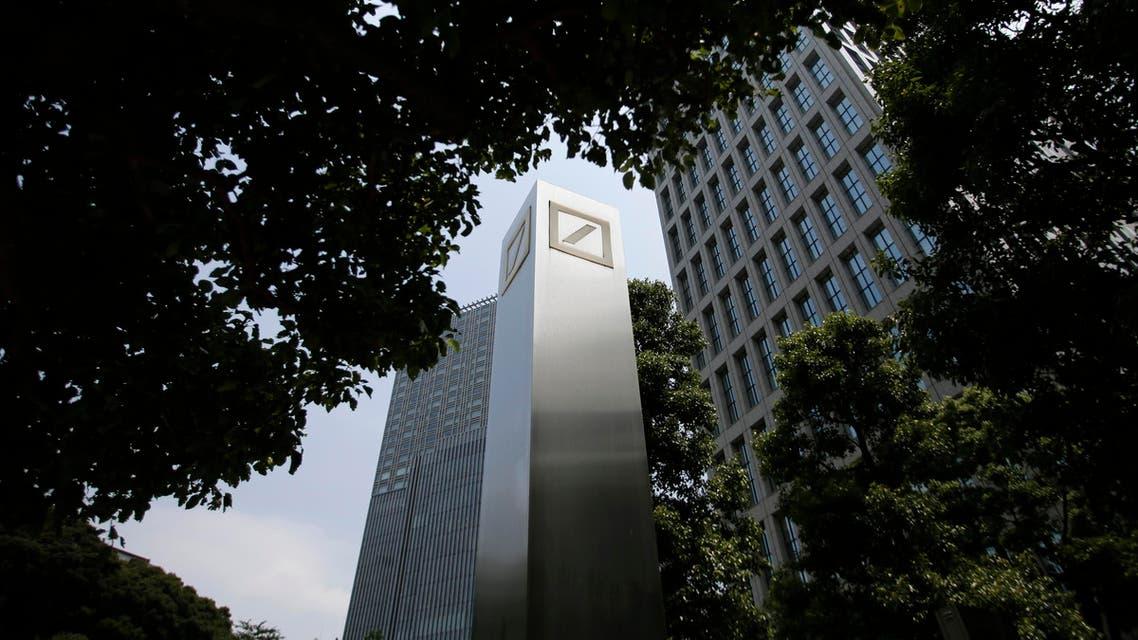 Logos of Deutsche Bank AG are seen in Tokyo July 16, 2014. (Reuters)