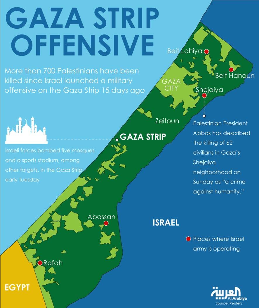 Infographic: Gaza Strip offensive