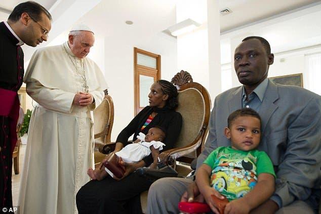 المرتدة السودانية مع البابا