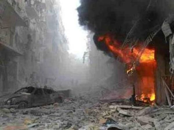 براميل متفجرة على حلب وصواريخ وقذائف هاون على محردة