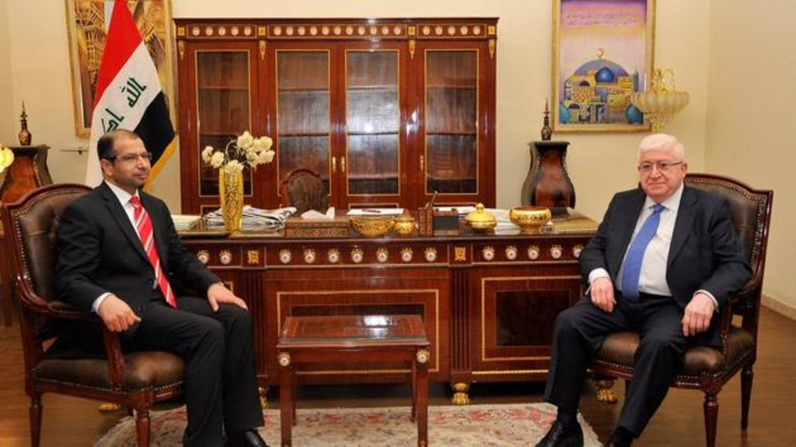رئيس مجلس النواب سليم الجبوري, اليوم السبت, رئيس الجمهورية فؤاد معصوم