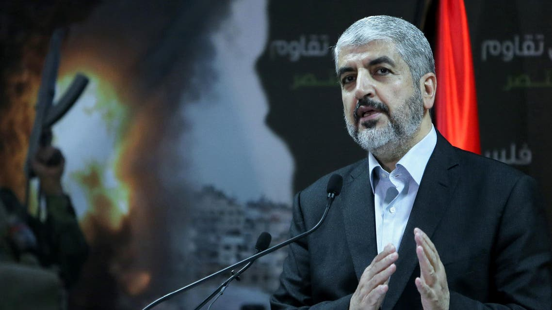 Chief of the Islamist Hamas movement, Khaled Meshaal holds a press conference in the Qatari capital Doha on July 23, 2014. AFP
