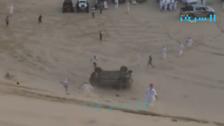 Alleged drifter flips car in Saudi Arabia