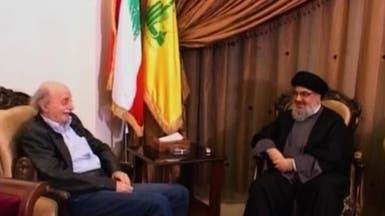 اجتماع استثنائي بين نصرالله وجنبلاط