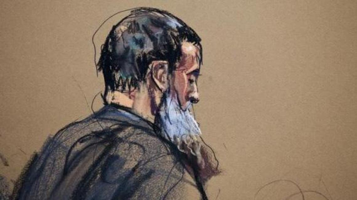 A courtroom sketch shows Nazih al-Ragye known by the alias Abu Anas al-Liby as he appears in Manhattan Federal Court for an arraignment in New York, October 15, 2013 file photo. (Reuters)