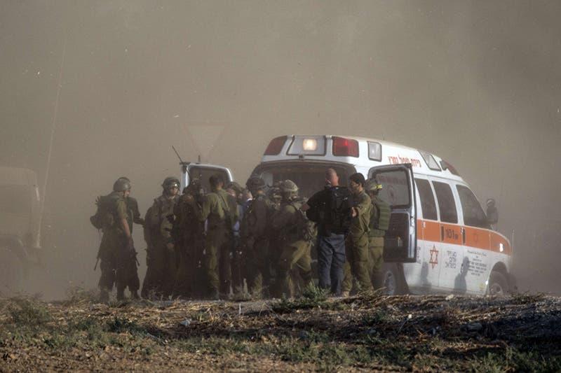 نقل مصابي الجيش الاسرائيلي في معارك غزة الى مستشفيات اسرائيل