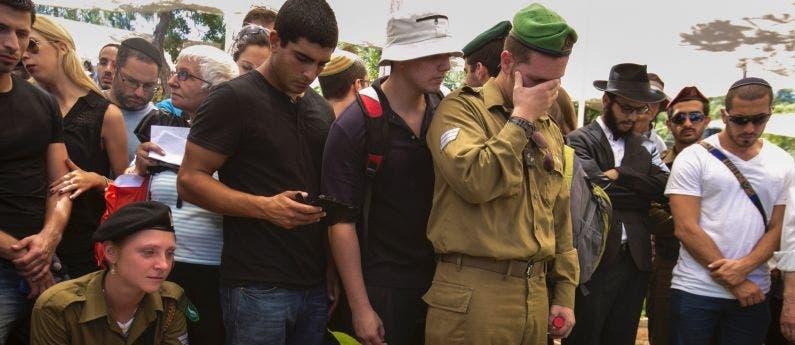 جنازة جنود اسرئيل قتلوا في معارك غزة