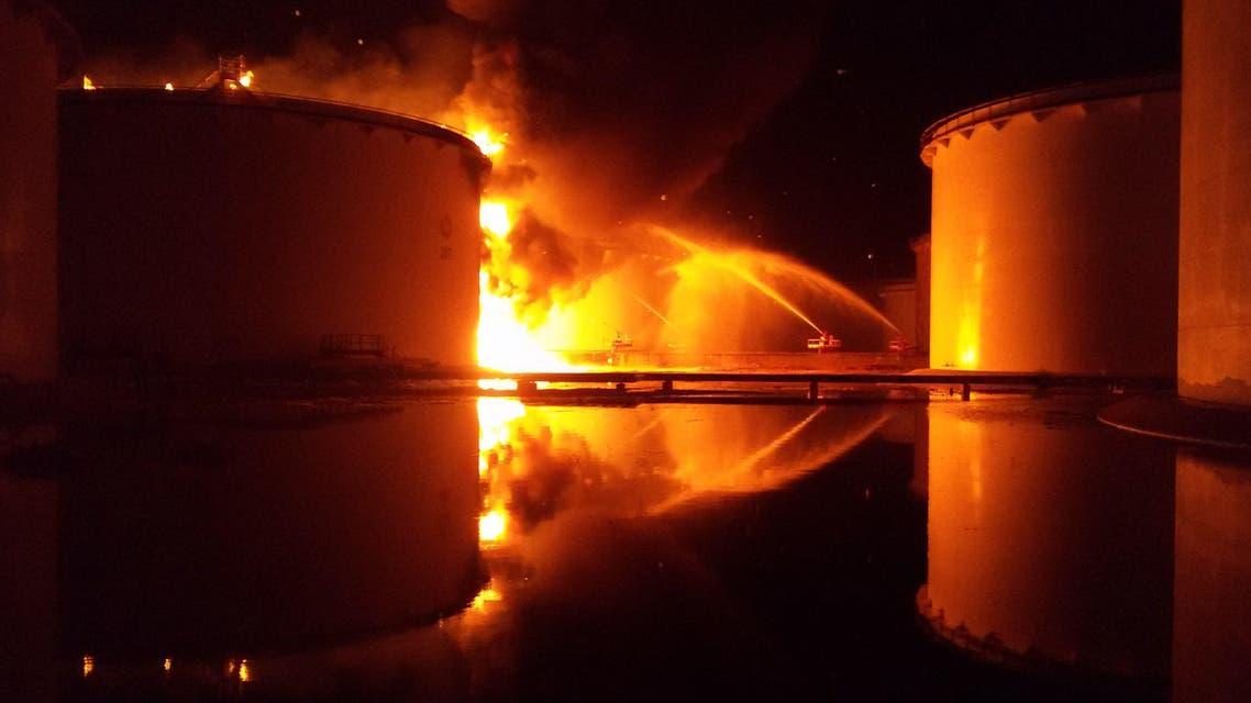 Tripoli fire fuel depot AFP