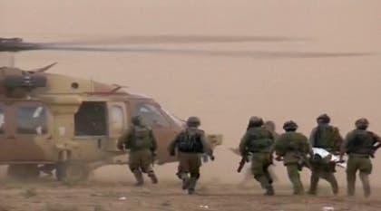 نقل مصابي الجيش الاسرائيلي في معارك غزة بطائرات الهيليكوبتر