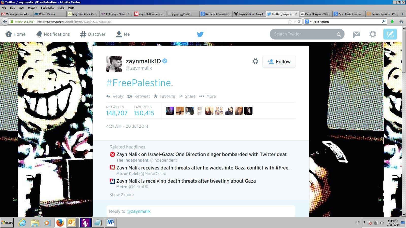Zayne Malik Twitter