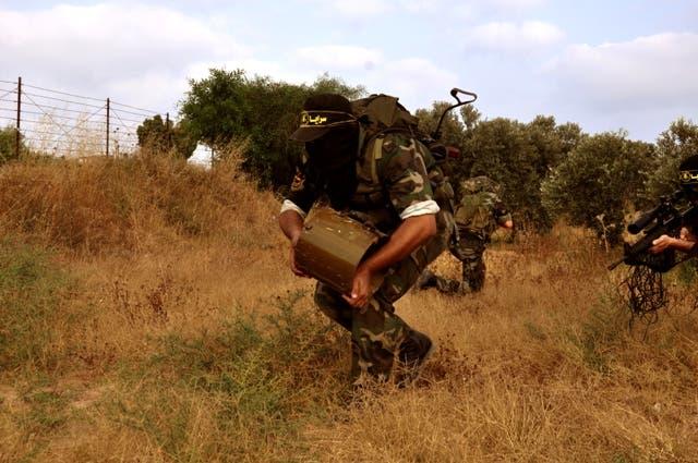 مقاتلون فلسطينيون في غزة