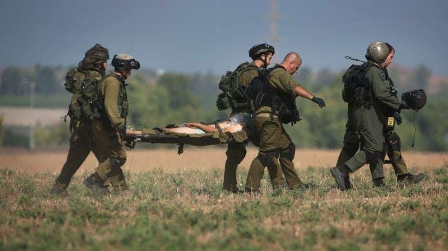 نقل مصابي الجيش الاسرائيلي في معارك غزة