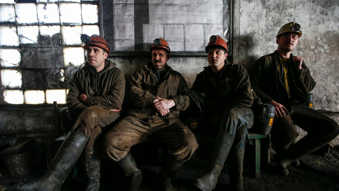 Ukrainian coal workers