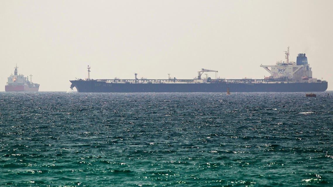An oil tanker carrying Kurdish oil docks near Israel's Ashkelon port June 20, 2014.   (Reuters)