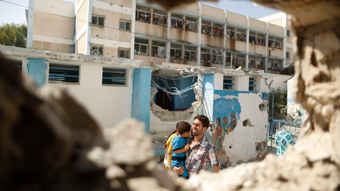 مدرسة أونوروا مدرسة للأونوروا غزة قصف