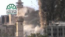 Police HQ near Aleppo Citadel destroyed
