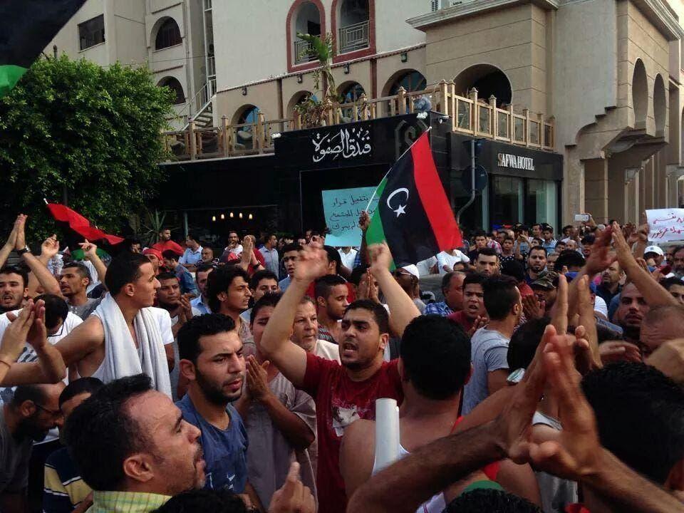 مظاهرات في مدينة طرابلس ضد الميليشيات في ليبيا