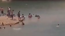 Mysterious lake appears in the middle of Tunisian desert