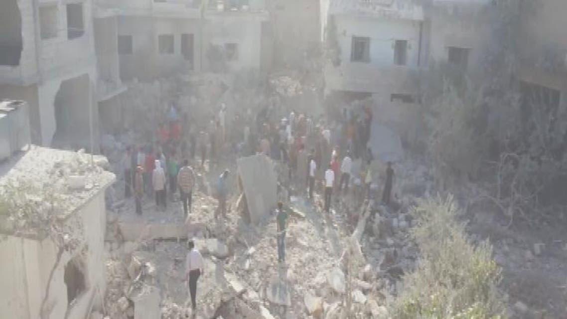 THUMBNAIL_ براميل النظام تسحق الأبرياء في ريف أدلب