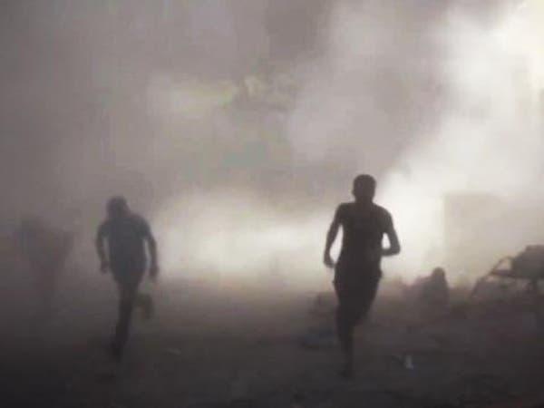 بالفيديو.. لحظة سقوط صواريخ نظام الأسد فوق الرؤوس