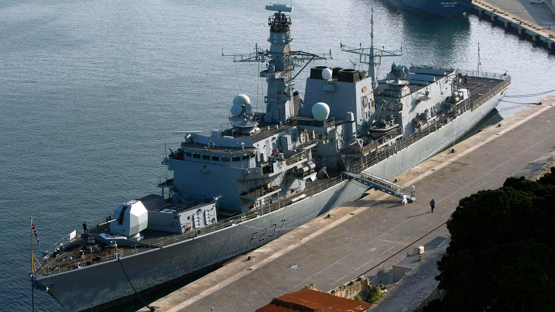 The British Royal Navy Type 23 frigate HMS Westminster is seen berthed in Valletta's Grand Harbour March 27, 2011