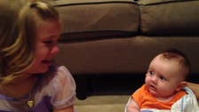Viral video: Young girl doesn't want her baby brother to grow up